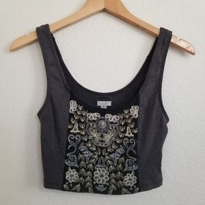 Urban Outfitters Ecote Cropped Tank Top S